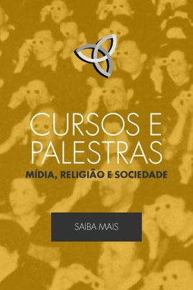 Banner de Chamada para os Cursos e Palestras - Mídia, Religião e Sociedade